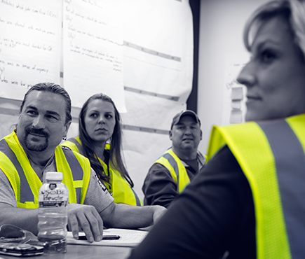 "Boeing Fabrication's Boby McDonald (from left), Melanie Faulkner, Tony Hamilton and Jenifer Cameron are part of a team that conducts ""listening tours"" among shop-flor workers at the Frederickson and Auburn, Wash., factories to gather direct input on safety issues."